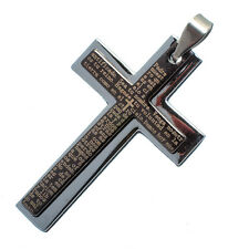 Stainless Steel Christian Jesus Christ Cross Catholic Crucifix Pendant #006