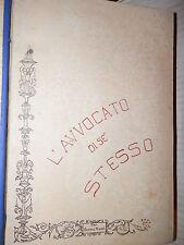 L AVVOCATO DI SE STESSO Carlo Aliprandi 1920 libro diritto giuridica saggistica