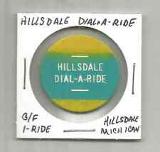 (O) Hillsdale Michigan Dial A Ride G/F 1 Fare