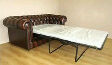 NEW CHESTERFIELD CLASSIC 3 SEATER SOFA BED IN ANTIQUE TAN HANDMADE IN ENGLAND.