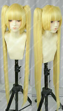 AKB0048 Short Hair Blonde Cosplay Party Wig+Long Ponytail