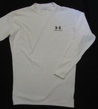 UNDER ARMOUR ~ ColdGear Crew Neck Long Sleeve Shirt ~ Men's XXL - white
