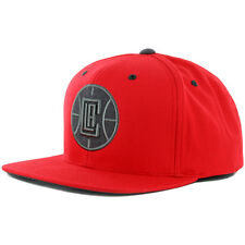 "Mitchell & Ness ""Grey Tonal"" Los Angeles LA Clippers Snapback Hat (Red) NBA Cap"