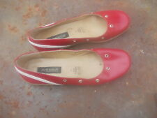 BALLERINES ANDREA MADE IN MEXICO ROUGE HT GAMME T37 15€ ACH IMM FP REDUITS MOND