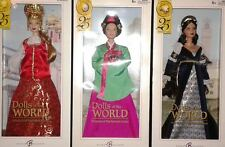 3 Barbie DOLLS OF THE WORLD  PRINCESS KOREAN COURT+ RENAISSANCE+ RUSSIA DOTW