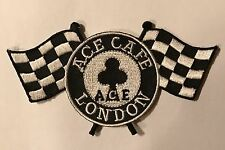 Ace Cafe London - Embroidered Chequered Flag Patch - Classic Motorcycle
