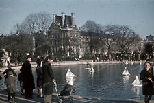 Farb-Dia-Paris-Jardin Tuileries-Île-de-France-agfacolor-robert-bothner-1940-1