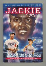 Jackie & Me by Dan Gutman PBBK 1st Printing 2000 Baseball Time Travel Adventure