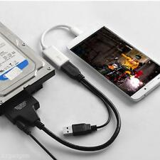 Dual  USB 3.0 to 2.5 3.5 SATA Hard Disk Driver Adapter Converter USB Power Cable