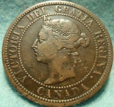 1887 High Grade CANADA LARGE CENT Victoria COIN No Res CANADIAN