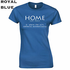 373 Home Wifi Womens T-Shirt funny cool college computer connect costume apple