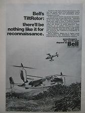 4/1975 PUB BELL HELICOPTER TILTROTOR RECONNAISSANCE AIRCRAFT XV-15 ORIGINAL AD