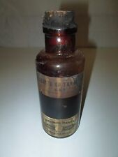 Vintage Northern Drug Co. Duluth Minn. GLYCERITE OF TANNIC ACID Brown Glass Jar
