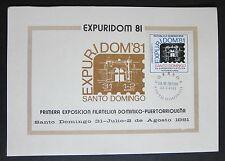 Dominican Republic International Philatelic Exhibition Stampcard 1981 Expuridom