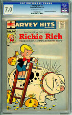 1st Richie Rich Comic Harvey Hits #3 CGC 7.0 Nov-57