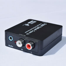 Optical SPDIF to Stereo 3.5mm or L/R RCA Audio Outputs PCM Dolby DigItal DTS