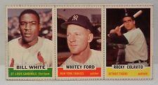 1962 Bazooka Baseball Card Panel (14) Whitey Ford/Rocky Colavito/ Bill White