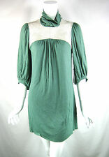 12TH STREET BY CYNTHIA VINCENT NWT Green Turtleneck Tunic Dress Size Small $224