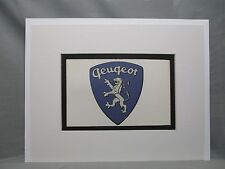 Peugeot France  Car Emblem Decal by Artist Color Illustration Exhibit
