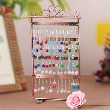 48 Hole Earrings Large Jewellery Wall Hanger Holder Display Stand Metal Storage