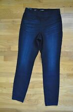 NWT Womens NINE WEST JEANS Pull On Skinny Crop Dark Denim Heidi Pants Size 12