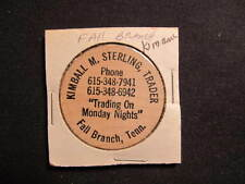 Fall Branch, Tennessee Wooden Nickel token - Kimball M. Sterling Wooden Token