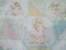 VINTAGE 1970's HOLLY HOBBIE FULL SHEET SET FITTED FLAT fabric crafts material