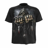 Game Over Spiral Direct OFFICIAL Gothic Skeleton Skull Gamer T-Shirt up to XXL