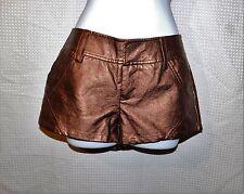Womens Bronze 2B BEBE shiny shorts sz 2 EUC