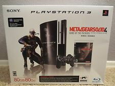 BRAND NEW Sony PlayStation 3 Metal Gear Solid 4 Edition 80gb System PS3 SEALED!