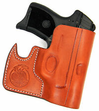 CEBECI FRONT POCKET BROWN LEATHER CCW CONCEALMENT HOLSTER - S&W M&P SHIELD 9 40