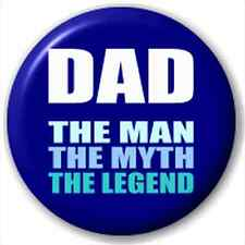 Small 25mm Lapel Pin Button Badge Novelty The Legend Dad