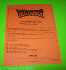 BELLY BOMBER By NAMCO 1994 ORIG  REDEMPTION ARCADE BULLETIN STYLE SALES FLYER