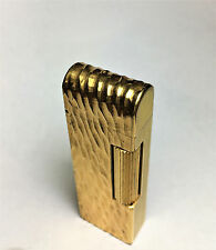 Yellow and Gold Dome Top Dunhill Rollagas lighter, just serviced