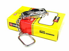 Burago Ferrari Testarossa Extremely rare Collectible chrome Plated Keyring 1:87