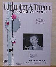 I Still Get A Thrill (Thinking of You) - 1930 sheet music - Art Gillham photo