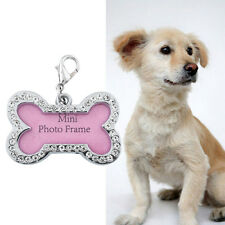 Mini Pink Pet Dog Cat Puppy Name Tag Circle Tags ID Stainless Steel Cute DIY Hot