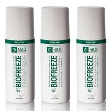 NEW Biofreeze Professional 3oz Roll-On 3PK Pain Relief Arthritis Free Shipping