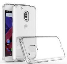 Clear Silicone Slim Gel Case Screen Protector for Motorola Moto G4 (2016)