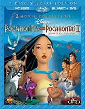 POCAHONTAS & POCAHONTAS 2 (Double Feature) -  Blu Ray - Sealed Region free