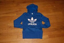 Womens Adidas Trefoil Hoodie Sweater Dress Blue Gray Black XS L XL
