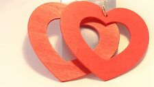 LARGE HEART EARRINGS OPEN HEART HOOP EARRINGS 4 INCH HEARTS ASSORTED COLORS