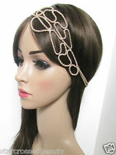 Gold Vintage Headdress 1920s Great Gatsby Headpiece Headband Flapper Gatsby f83