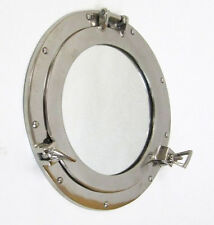 "Ship's Cabin Porthole Mirror 11"" Aluminum Chrome Finish Nautical Wall Decor"