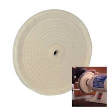 "SPIRAL STITCHED COTTON BUFFING POLISHING WHEEL FOR 150 MM 6"" BENCH GRINDER"