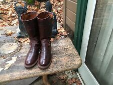 Iron Heart/Wesco Collaboration Mens 1930s Engineer Boss Boots 7.5 D Burgandy