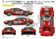 [FFSMC Productions] Decalcomanie 1/43 Ferrari 308 GTB #8 Daytona '78