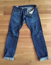 ONI DENIM JAPAN 20 oz 502ZR Secret Selvedge Skinny Denim Jeans Size 32 x 33 $235