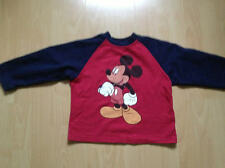 Mickey Mouse Sweatshirt 104/110 Pullover rot blau