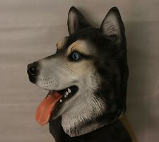 Siberian Husky Mask Malamute Dog Latex Animal Fancy Dress Canine Halloween Wolf